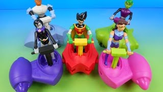 getlinkyoutube.com-2005 TEEN TITANS HEROCYCLE SET OF 5 JOLLIBEE KIDS MEAL TOYS VIDEO REVIEW