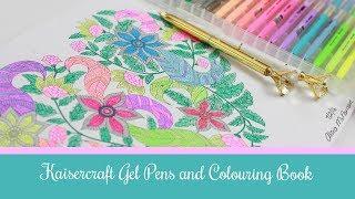 getlinkyoutube.com-Kaiser Colour Gel Pens and Colouring Books