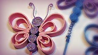 getlinkyoutube.com-Cómo hacer mariposas de goma eva (foami, fomi).