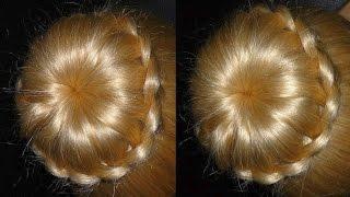 getlinkyoutube.com-Frisuren mit Duttkissen/Dutt.Hochsteckfrisur.Donut Hair Bun Updo Hairstyle.Chignon Tressé.Peinados