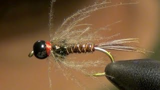 getlinkyoutube.com-CDC Pheasant Tail Fly Tying Instructions and Tutorial
