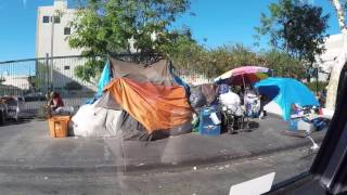 getlinkyoutube.com-Skid Row - Homeless Town in middle of Los Angeles