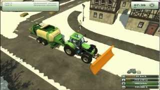 getlinkyoutube.com-Landwirtschafts Simulator 2013 Schneemod Map - Schnee Pressen(Quaderballen)