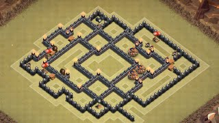 Clash of Clans - TH8 War Base Anti GoWiPe