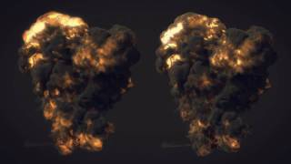 getlinkyoutube.com-Particle tests (12) FumeFX Explosions Particle Meshing HD!