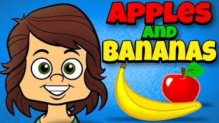 getlinkyoutube.com-Apples and Bananas with Lyrics - Vowel Songs - Kids Songs by The Learning Station