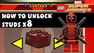 getlinkyoutube.com-Lego Marvel Super Heroes - How to Unlock Studs X8 Deadpool Brick