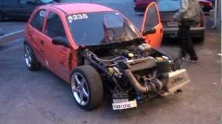 getlinkyoutube.com-Spring burnout Opel corsa