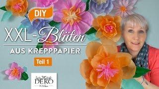 getlinkyoutube.com-DIY: Riesige Blüten aus Krepppapier für Wanddekos selber machen Teil 1[How to] | Deko Kitchen
