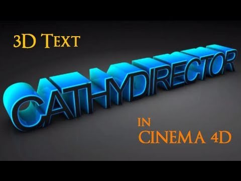 3D Text | CINEMA 4D Tutorial