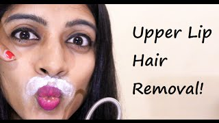 getlinkyoutube.com-Upper Lip Hair Removal at Home _ (SuperWowStyle Prachi)