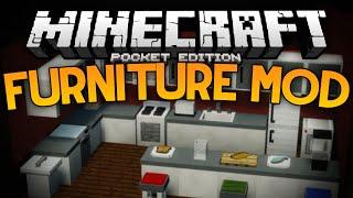 getlinkyoutube.com-MORE FURNITURE IN MCPE!!! - The Furniture Mod - Minecraft PE (Pocket Edition)