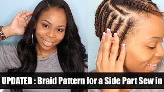 getlinkyoutube.com-UPDATED: Braiding Pattern for a side part with leave out