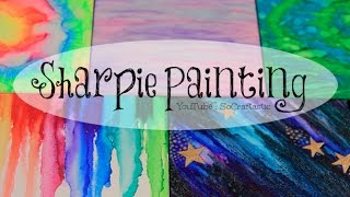 DIY Sharpie Watercolor Painting ((with alcohol)) - Galaxy, Tie Dye, & More. | SoCraftastic
