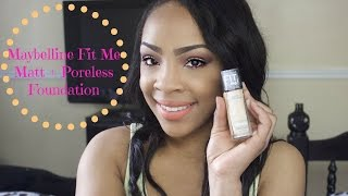 getlinkyoutube.com-Maybelline Fit Me Matt+Poreless Foundation Review