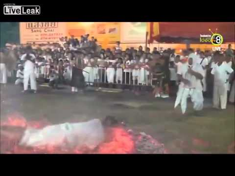 Firewalking Gone Wrong at Festival