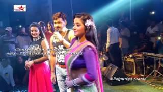 getlinkyoutube.com-Pawan Singh Monalisa Akshara Singh Arkestra Recording Dance Live Stage Show #Bhojpuri News