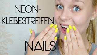 getlinkyoutube.com-Neon-Nails (Klebestreifen) - Tutorial