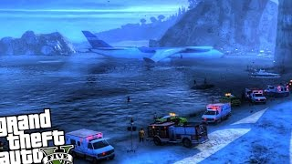 getlinkyoutube.com-Cargoplane Crash in Water - GTA 5 PC MOD