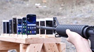 getlinkyoutube.com-Which Phone is More Bulletproof? Samsung Galaxy vs iPhone