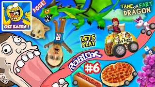 getlinkyoutube.com-ROBLOX #6: GET EATEN ... by DOGE? + Fart Dragon Taming!  (Fast Food on Wheels is Yummy Nummy!)
