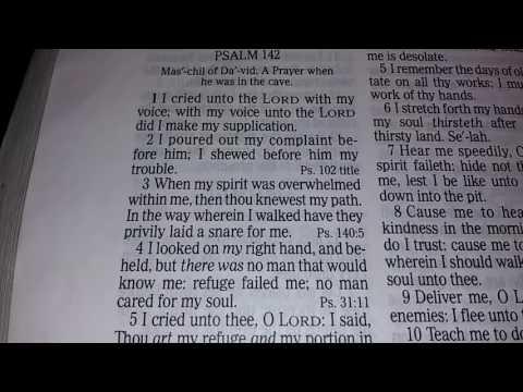 Psalms 142 kjv