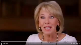 Betsy DeVos Gives Ridiculous Answers & Reporter Slams Her For It