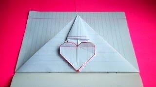 getlinkyoutube.com-оригами сердечко-конверт / идеи для личного дневника(лд)#6 / origami envelope heart bookmark