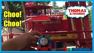 getlinkyoutube.com-THOMAS AND FRIENDS Train Ride for kids Thomas the tank Engine Percy Ryan ToysReview