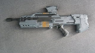 getlinkyoutube.com-[MOD] HALO Battle Rifle Nerf Replica
