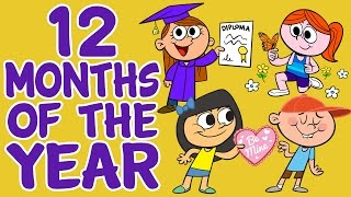 getlinkyoutube.com-Months of the Year Song - 12 Months of the Year - Kids Songs by The Learning Station