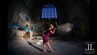 Pin Up Shoot In Abandoned Detroit St. Agnes Cathedral Sony A6000 Frames Per Second with Jason Lanier