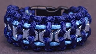 "getlinkyoutube.com-How to Make the ""Hex Nut"" Paracord Survival Bracelet - BoredParacord"
