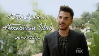 getlinkyoutube.com-HD Adam Lambert as a mentor - American Idol Workshop 2014-02-19 (Only Adam's parts)