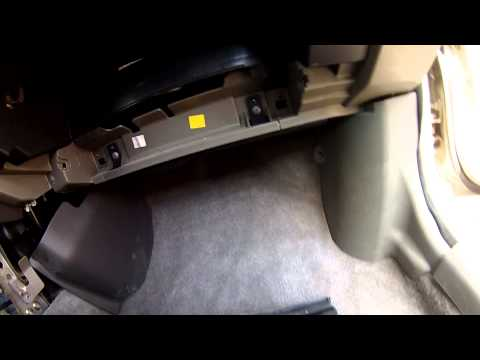 How to remove and install a Glove box compartment on 2000, 2006 Nissan Sentra