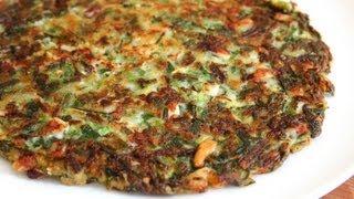 "getlinkyoutube.com-Korean style vegetable pancake (""yachaejeon"")"