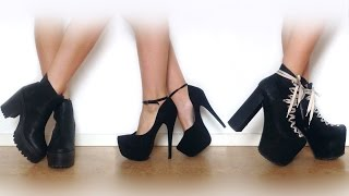 getlinkyoutube.com-♡ My shoe collection | UNIF Jeffrey Campbell NLY & more ♡