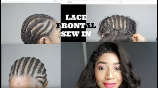 getlinkyoutube.com-LACE FRONTAL SEW IN, NO GLUE, NO TAPE OR LEAVE OUT || IWISH HAIR