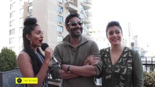 "getlinkyoutube.com-Director, Producer & Actor Ajay Devgn & Bollywood Icon Kajol visit NYC to promote film ""Shivaay"""