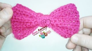 getlinkyoutube.com-كروشية فيونكة بسيطة وسهلة | خيط وإبرة | Crochet bow  simple and easy