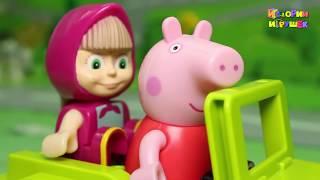 getlinkyoutube.com-Мультфильмы - Маша и Свинка Пеппа в Африке! Маша и Медведь Новая серия! Мультики Для детей 2017 года