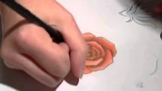 getlinkyoutube.com-Tutorial: Rosen Zeichnen leicht gemacht