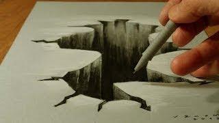 getlinkyoutube.com-Drawing 3D Hole, Illusionistic Art on Paper