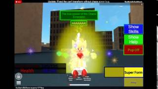 getlinkyoutube.com-Super Sonic Transformation -ROBLOX Sonic Ultimate RPG