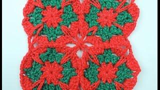 getlinkyoutube.com-Crochet: Cuadrado # 18 en Dos Colores