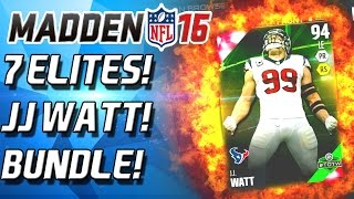 getlinkyoutube.com-JJ WATT! ALL MADDEN BUNDLE! 7 ELITES! - Madden 16 Ultimate Team