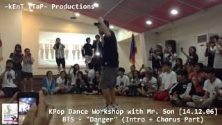 getlinkyoutube.com-KPop Dance  Workshop with Mr. Son [BTS - Danger (Intro + Chorus Part)]