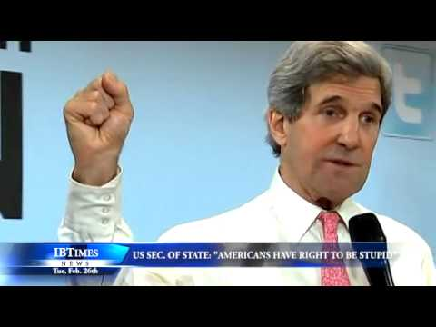 U.S. Secretary Of State Says Americans Have A Right To Be Stupid