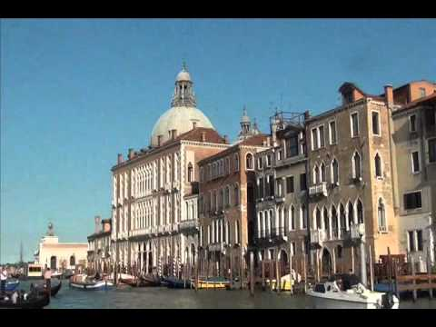Grand Canal - Venice, Italy. Short tour showing the waterfront skyline and activities