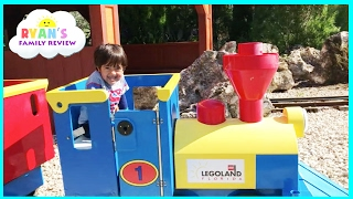 getlinkyoutube.com-Legoland Amusement Park for Kids Car and train rides! Family fun children play area
